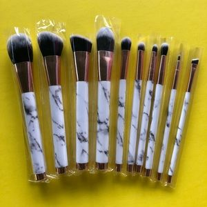 10pc elegant soft marble brush set